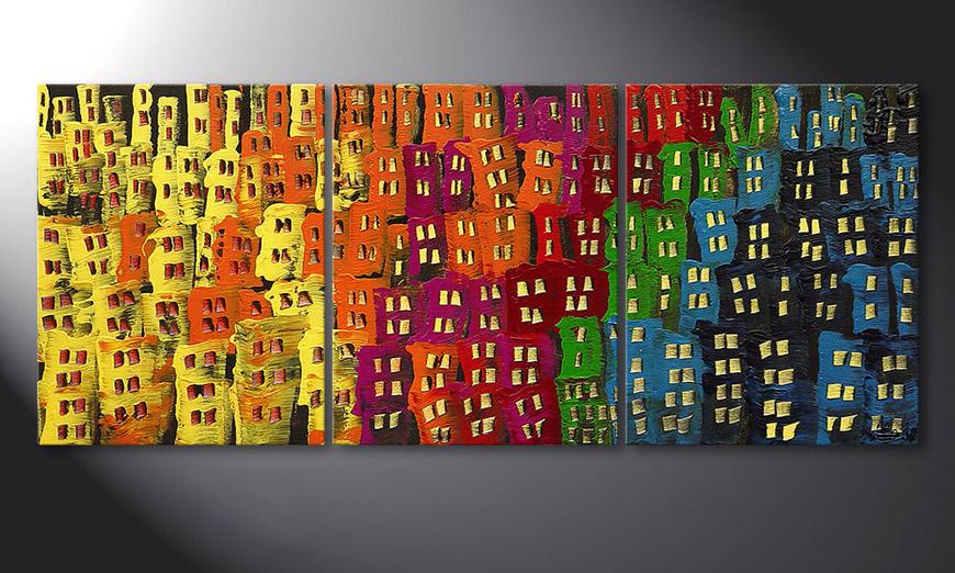 Afterglowing City 120x50x2cm quadro da soggiorno