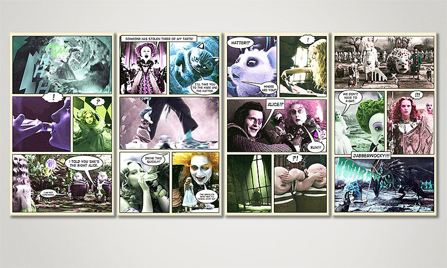 Alice in Wonderland 160x70x2cm quadro