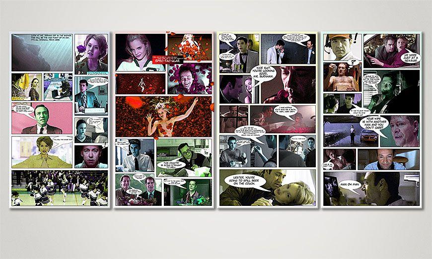 American Beauty 160x70x2cm quadro