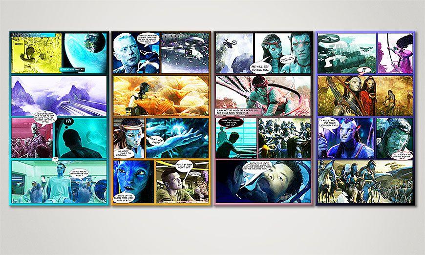 Avatar 160x70x2cm quadro