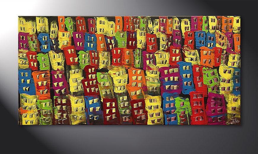 Beauty of a City 120x60x2cm quadro