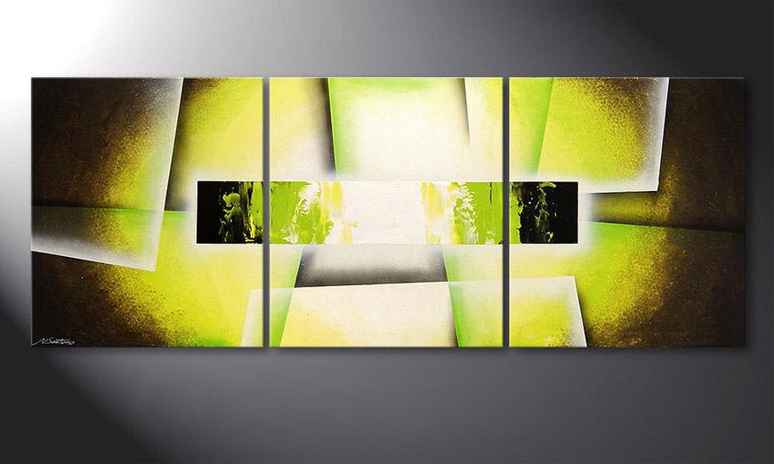 Broken Green 180x70x2cm quadro da soggiorno
