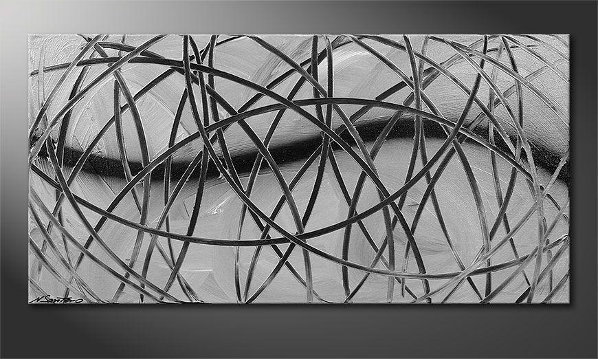 Broken White 100x50x2cm quadro