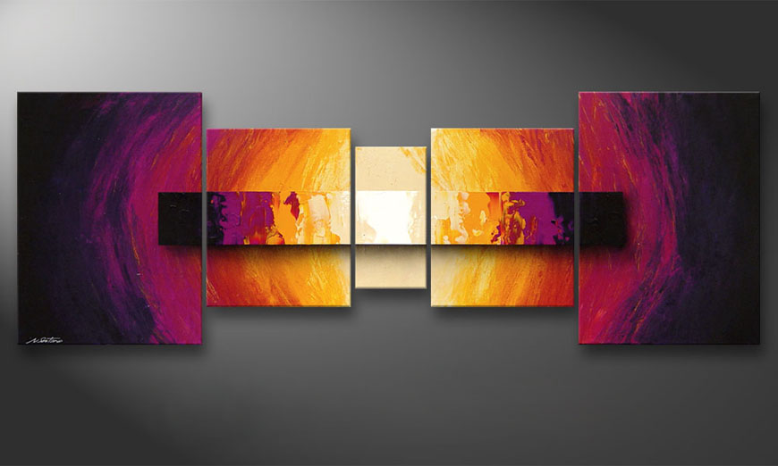 Catched Afterglow 200x70x2cm quadro