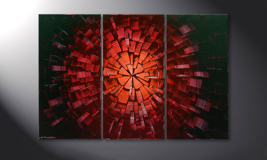 Center of Glow 120x80x2cm quadro