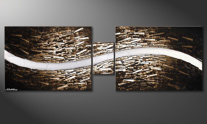 Clear River 180x60x2cm quadro su tela