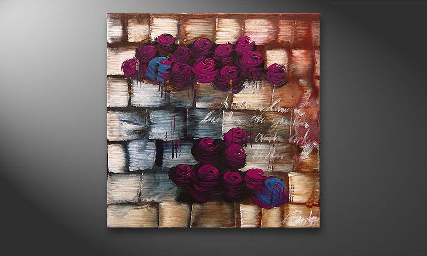Clouds of Roses 80x80x2cm quadro