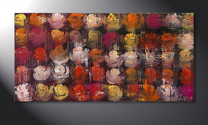 Colored Roses 120x60x2cm quadro
