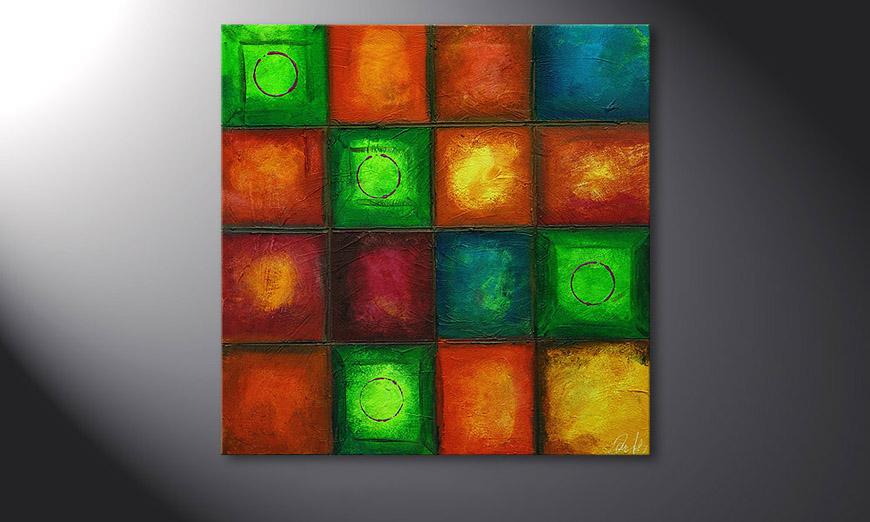 Colorful Cubes 80x80x2cm quadro