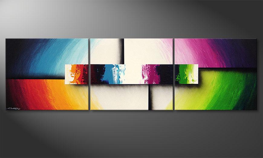 Colorful Life II 210x60x2cm quadro moderno