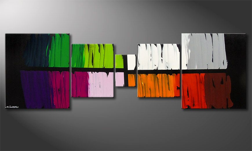Colorful Lights 220x70x2cm quadro