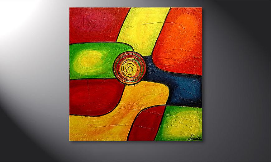 Colors 80x80x2cm quadro