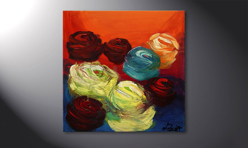 Colors of Roses 70x70x2cm quadro