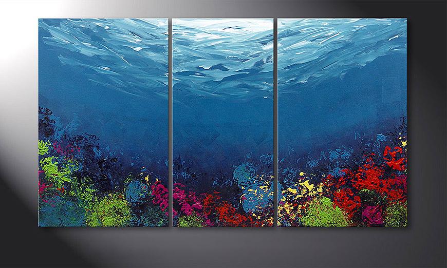 Coral Garden 140x80x2cm quadro