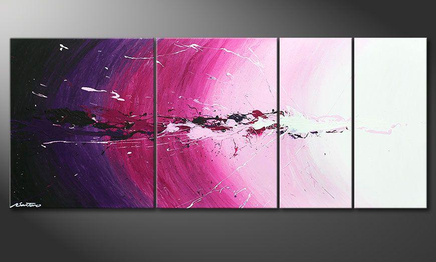 Cosmic Splash 170x70x2cm quadro