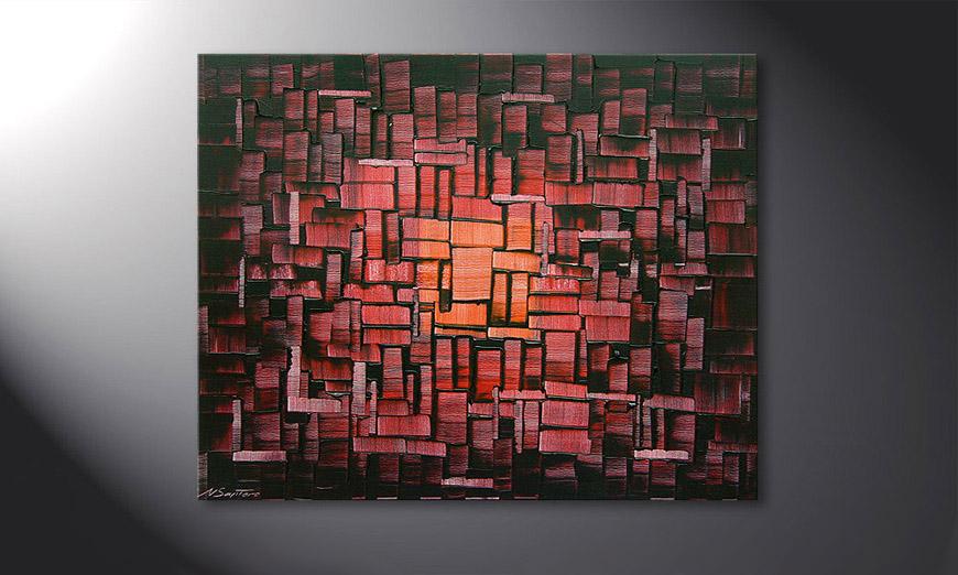 Cubes of Glow 100x80x2cm quadro