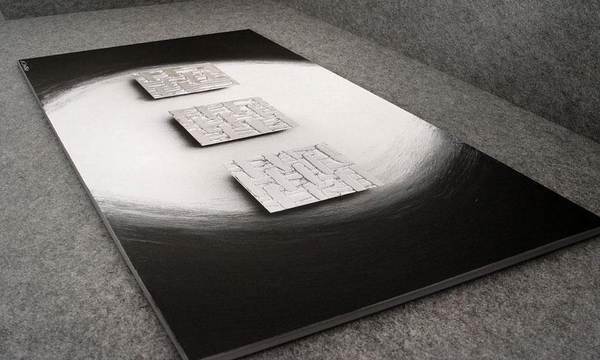 Cubes of Silver 140x70x2cm quadro XXL