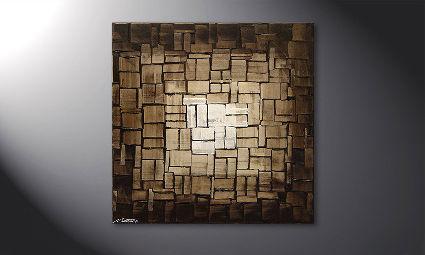 Cubic Light 80x80x2cm quadro