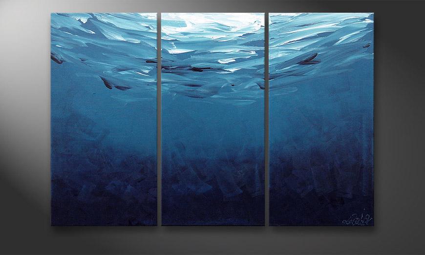 Deep Blue 120x80x2cm quadro