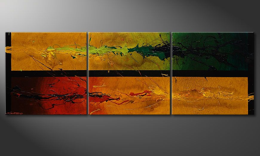 Dipinto moderno Blowing Elements 150x50x2cm