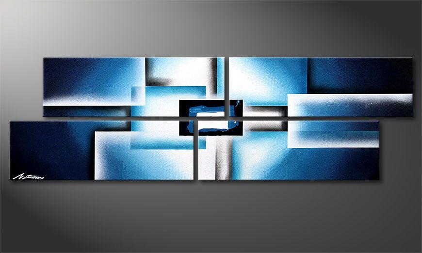 Dipinto moderno Polar Glow 130x40x2cm