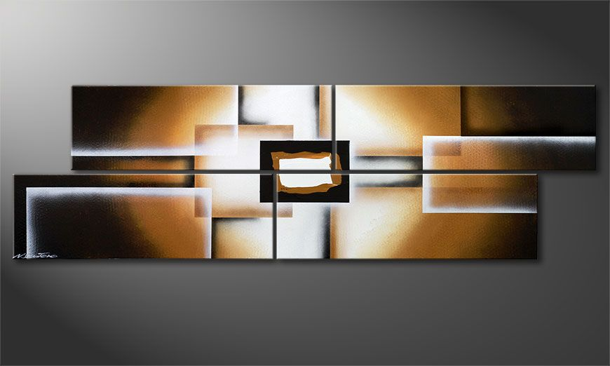 Earth Construction 200x60x2cm quadro moderno