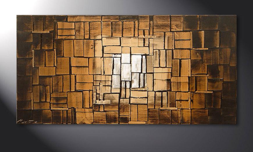 Earth Cubes 120x60x2cm quadro