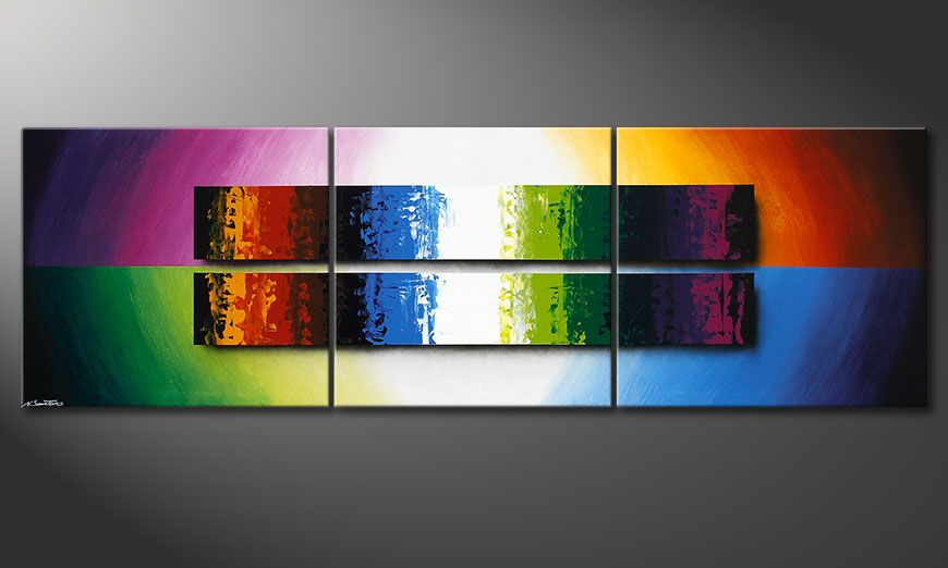 Expression of Colours 260x80x2cm quadro XXL