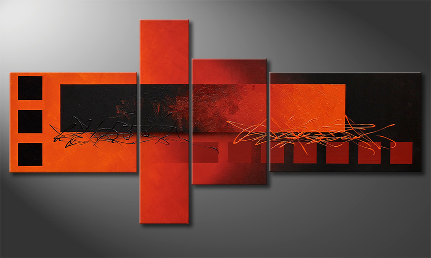 Fiery Emotions 160x80x2cm quadro da soggiorno