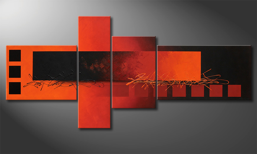 Fiery Emotions 220x100x2cm quadro XXL