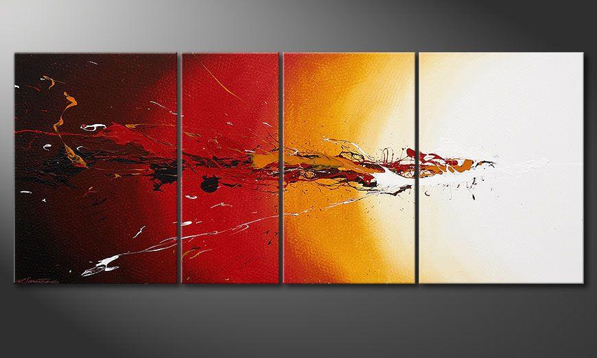 Fiery Splash 170x70x2cm dipinto moderno