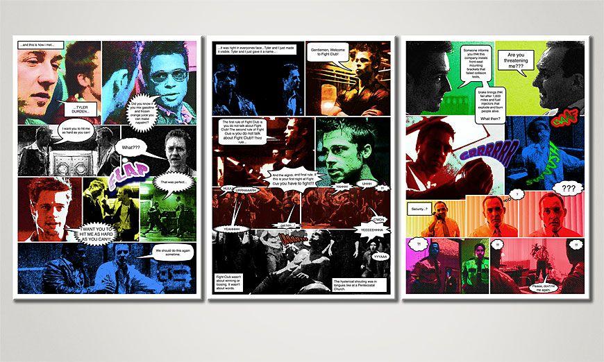 Fight Club 150x70x2cm quadro da soggiorno