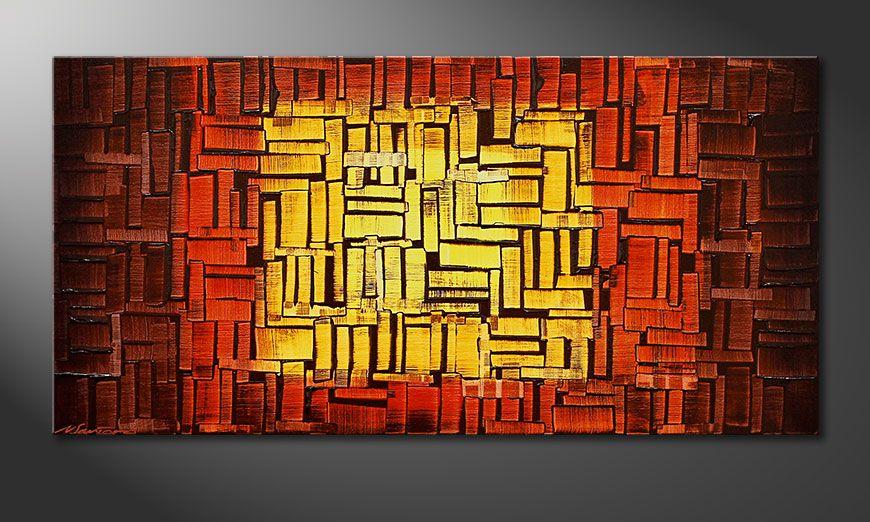 Fire Cubes 120x60x2cm quadro