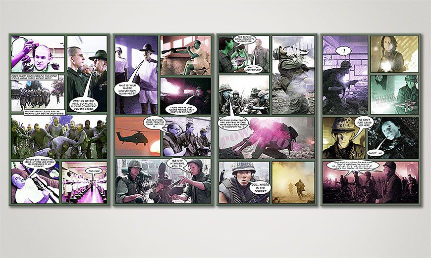 Full Metal Jacket 160x70x2cm quadro