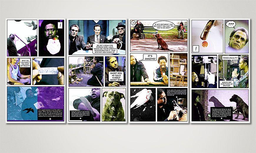 Ghost Dog  Il codice del samurai 160x70x2cm quadro