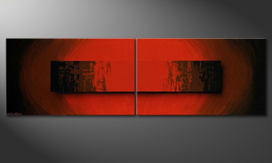 Glowing Red 200x60x2cm quadro