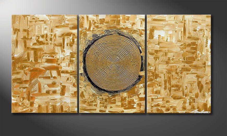 Golden Sun 120x60x2cm quadro