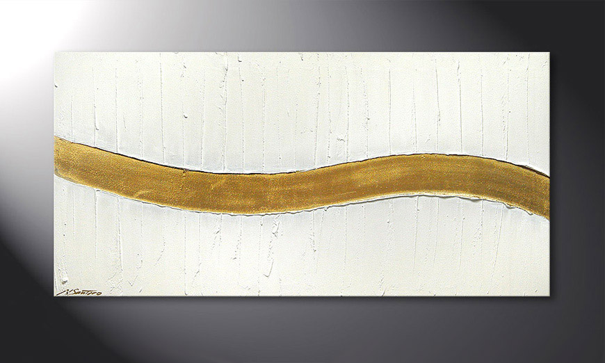 Golden Wave 120x60x2cm quadro