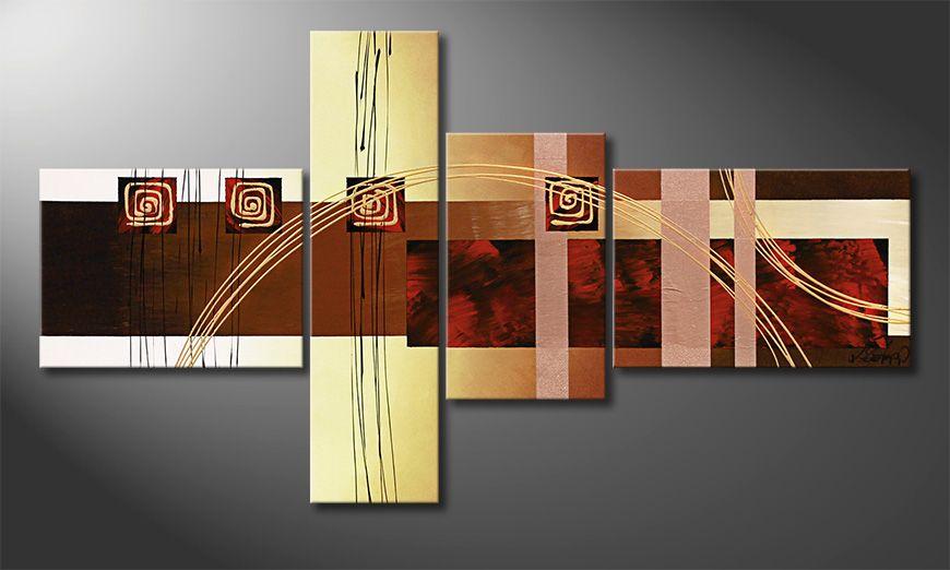Golden Ways 130x70x2cm quadro da soggiorno