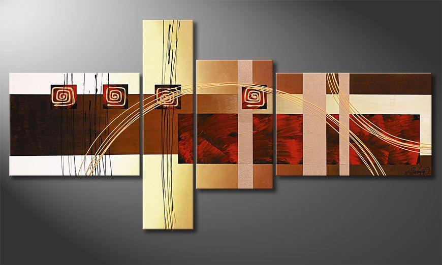 Golden Ways 160x80x2cm quadro da soggiorno