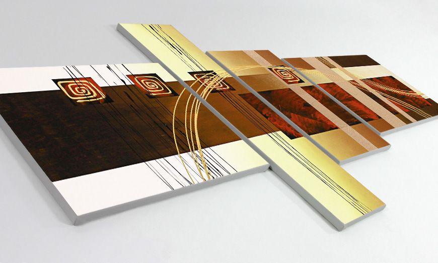 Golden Ways 160x80cm quadro da soggiorno - Quadri XXL