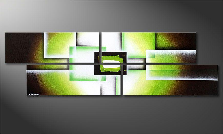 Green Spirit 200x60x2cm quadro