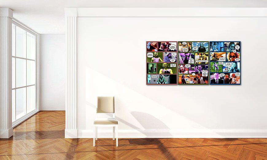 Il grande lebowski 150x70cm quadro da soggiorno - Quadri XXL