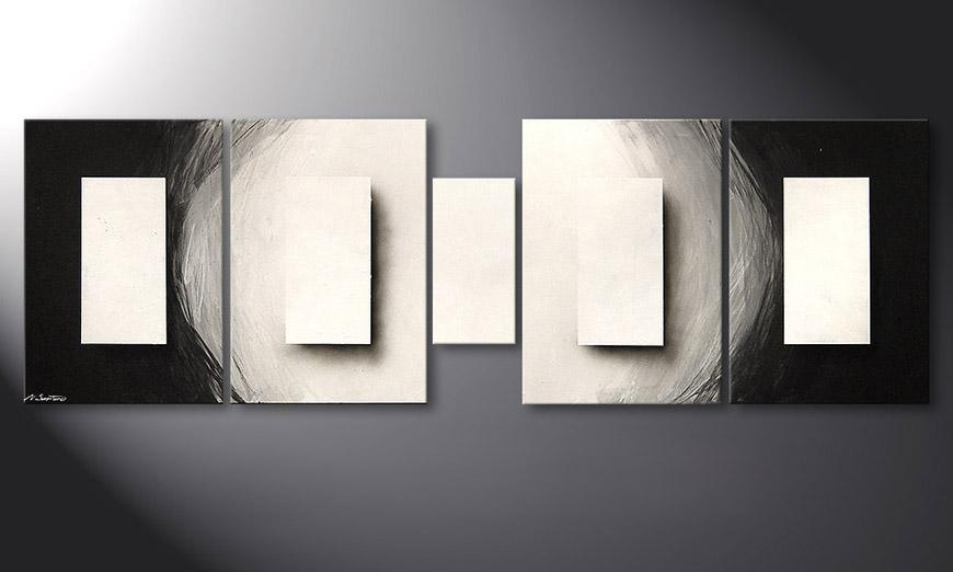 Illuminated Cubes 220x70x2cm quadro