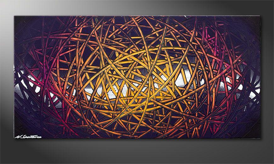Indian Moonlight 100x50x2cm quadro