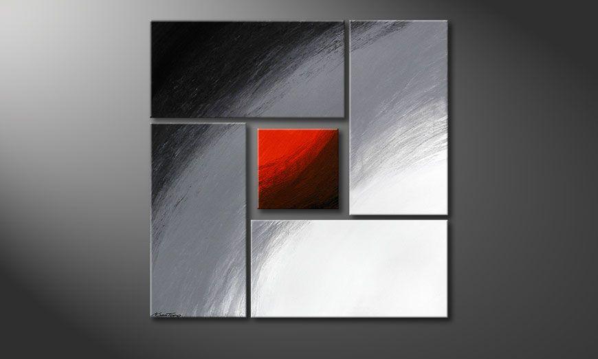 Internal Heat 90x90x2cm (2 & 4cm) quadro moderno