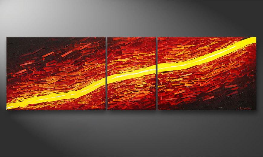 Lava Stream 200x60x2cm quadro