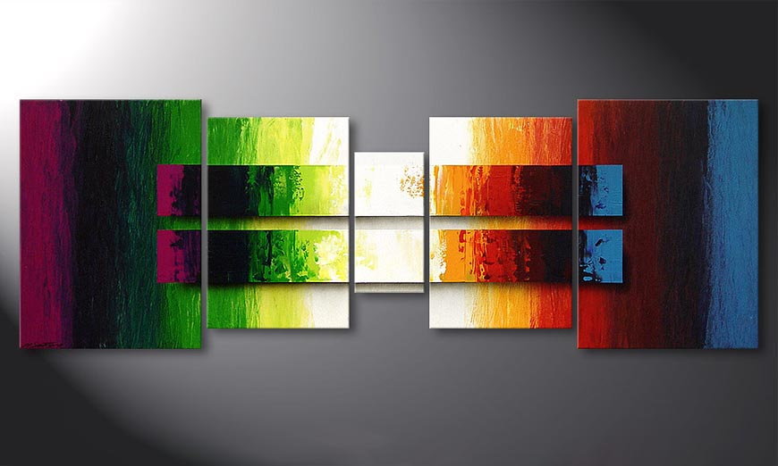 Liquid Colours 200x70x2cm quadro
