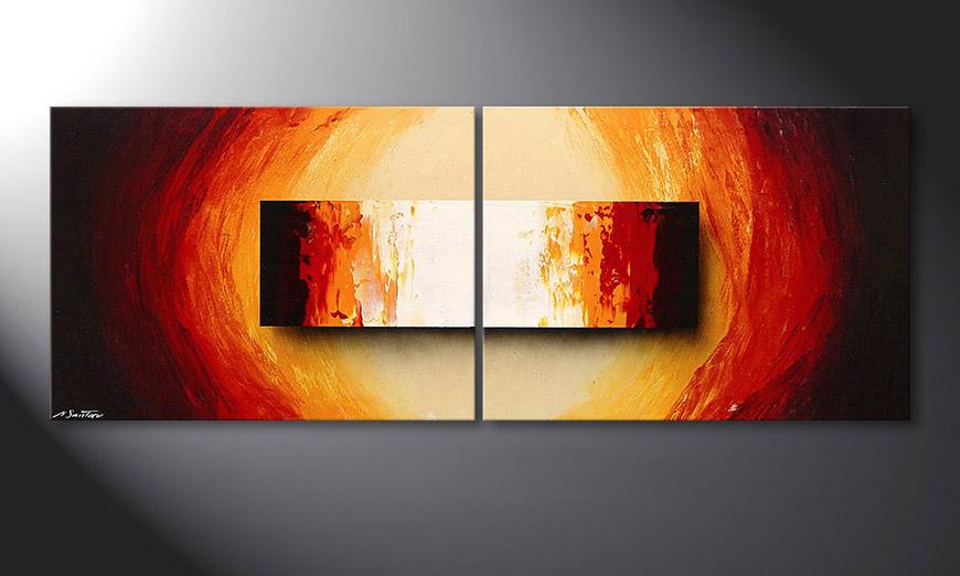 Liquid Fire 160x60x2cm quadro su tela