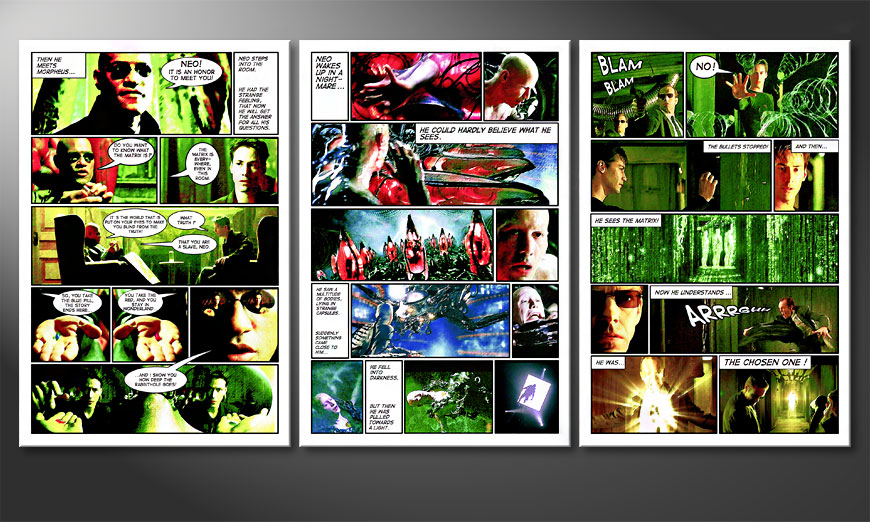 Matrix 180x90x2cm quadro da soggiorno